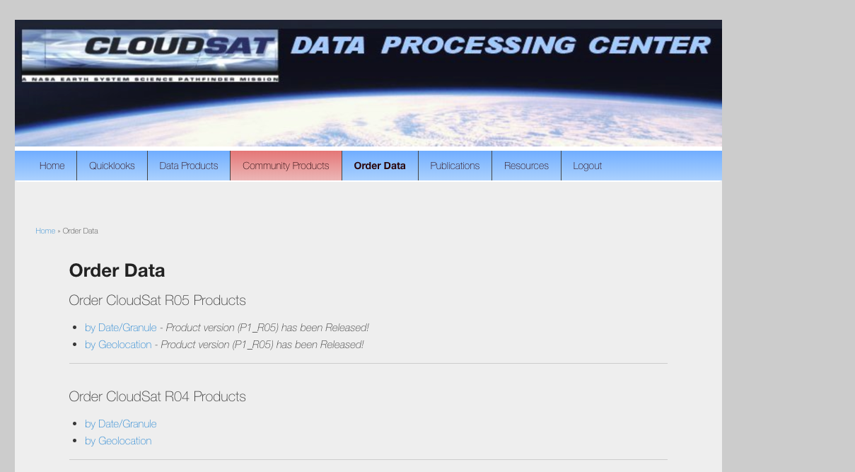 5 9  Cloudsat/Calipso Notes — A301